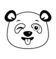 cute panda happy emoji kawaii vector image