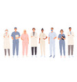 doctors medical students workers medics and vector image
