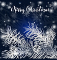 elegant christmas blue background vector image vector image