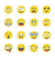 expressions icons set vector image