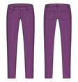 fashion technical colored sketch jeans in vector image