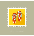 Flip Flops flat stamp with long shadow vector image vector image