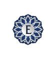 flower elegant icon initial e vector image vector image