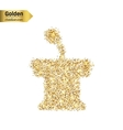 Gold glitter icon of orator stands isolated vector image vector image