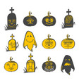 halloween avatars set vector image vector image