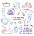 Hand drawn doodle Czech Republic travel set vector image vector image