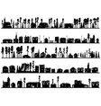 horizontal childish silhouettes of built home and vector image vector image