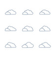 icon set clouds in line style vector image vector image