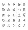 icon set - energy and power vector image vector image
