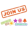 Join Us Rubber Stamp vector image vector image
