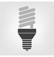 light bulb energy saving lamp vector image