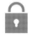lock halftone icon vector image