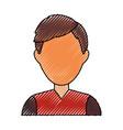 Man faceless profile