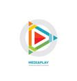 media play - logo template concept vector image