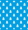 money bag pattern seamless blue vector image