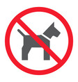 no dog glyph icon prohibition and forbidden vector image vector image
