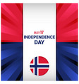 norway independence day design vector image