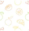 one line art style lemons seamless pattern vector image vector image