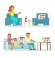 online friends meeting flat style design vector image vector image