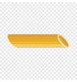 penne pasta icon realistic style vector image vector image