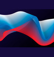 russia flag in the form of wave ribbon on dark vector image