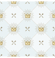 Seamless background with royal crown and arrows vector image