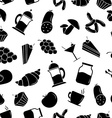 Seamless pattern with Food vector image