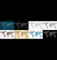 set abstract polygonal world maps with dots and vector image vector image