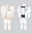 set of animated mens clothing groom suit for vector image vector image