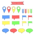 set of colorful cartoon pointers vector image