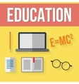 Set of education elements vector image