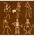 Skeletons - knight Vinyl-ready vector image vector image