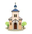 small russian church vector image