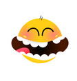 smiley happy face smile image is isolated on vector image vector image