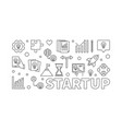 startup horizontal or banner vector image vector image