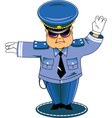 traffic cop vector image vector image