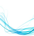 Transparent swoosh smooth speed futuristic lines vector image vector image