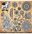 Tribal vintage ethnic pattern set vector image vector image