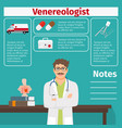 venereologist and medical equipment icons vector image vector image