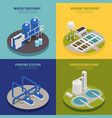 water cleaning concept icons set vector image vector image