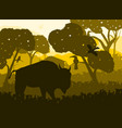 wildlife with animals background vector image