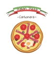 Beautiful of Italian pizza Carbonara vector image