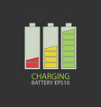 collection charging battery vector image