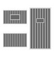 prison bar jail vector image