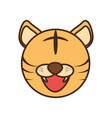 face tiger cartoon animal vector image