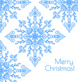 Christmas card with hand drawn snowflakes vector image