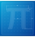 Pi day poster vector image