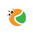 abstract circle dot eco logo vector image