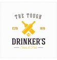 Drinker Pub Bottles Abstract Vintage Label vector image