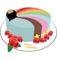 rainbow cake vector image